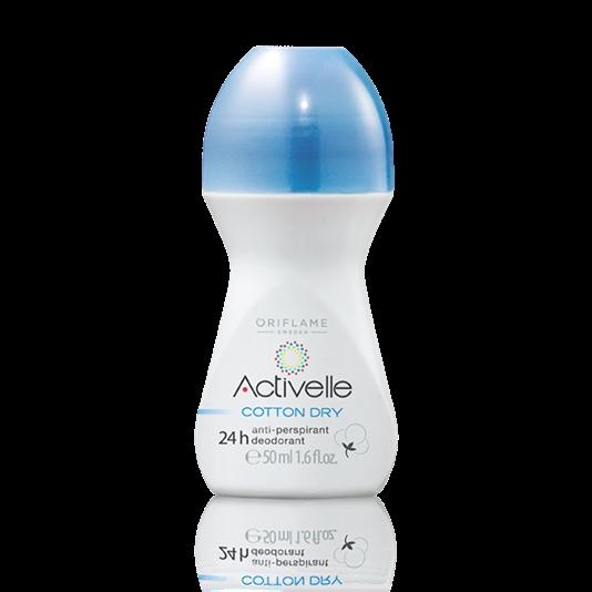 Шариковый дезодорант-антиперспирант 24-часового действия с натуральной пудрой хлопка «Активэль»