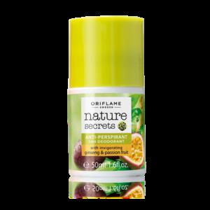 Шариковый дезодорант-антиперспирант 24-часового действия «Женьшень и маракуйя»