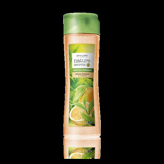 Шампунь-объем для тонких волос «Зеленый чай и бергамот»